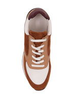 John Lobb - Foundry Tan Suede, Leather & Mesh Trainer