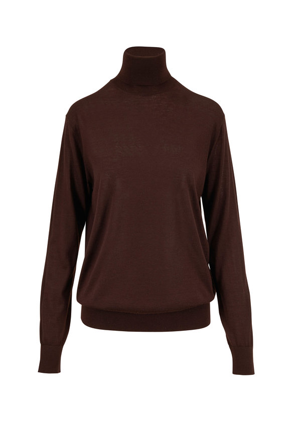 Dolce & Gabbana Ebony Cashmere Turtleneck Sweater
