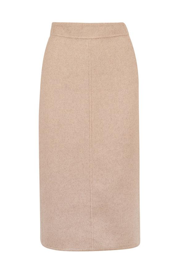 Vince Heather Oat Seamed Midi Skirt