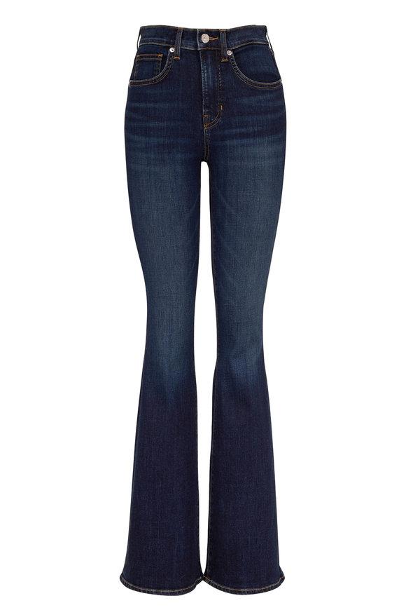 Veronica Beard Beverly Dark Vintage Wash High-Rise Flare Jean