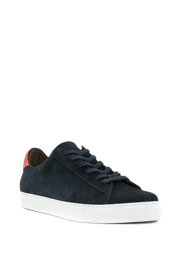 G Brown Court Navy Suede Sneaker