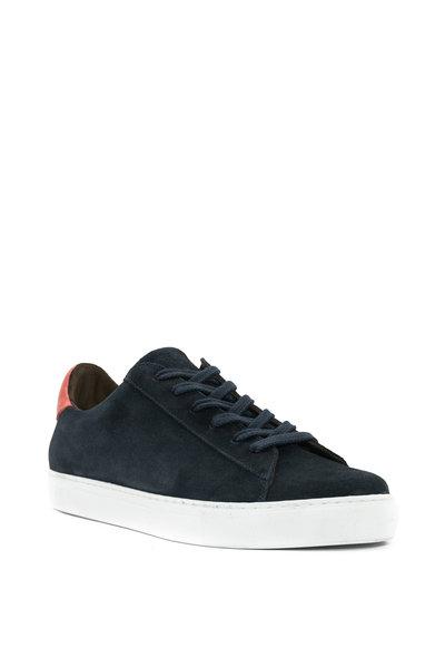 G Brown - Court Navy Suede Sneaker