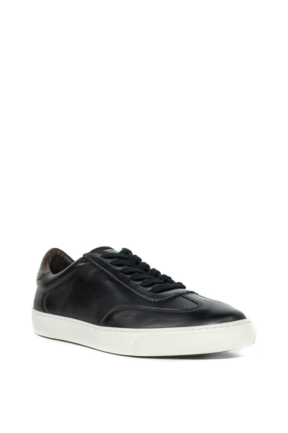 G Brown Flight Navy Leather Sneaker