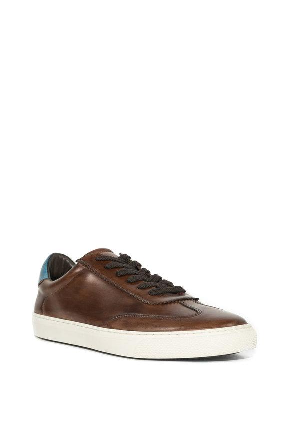 G Brown Flight Medium Brown Leather Sneaker