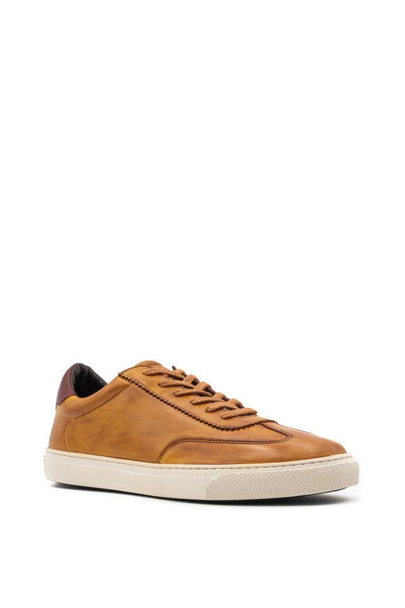 G Brown Flight Cognac Leather Sneaker