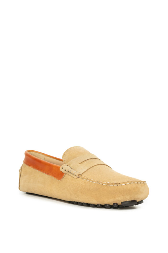 G Brown Ibizia Yellow Suede Penny Loafer