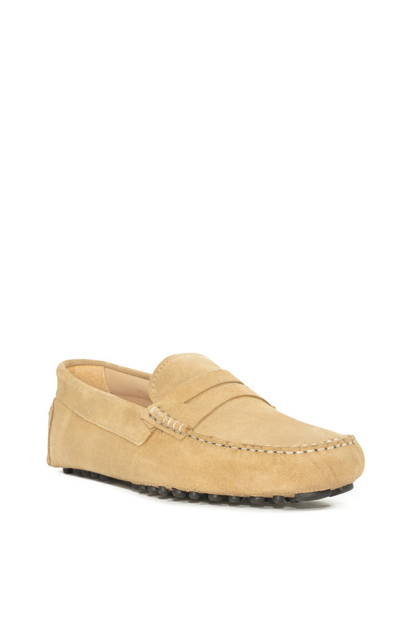 G Brown Ibizia Light Yellow Suede Penny Loafer