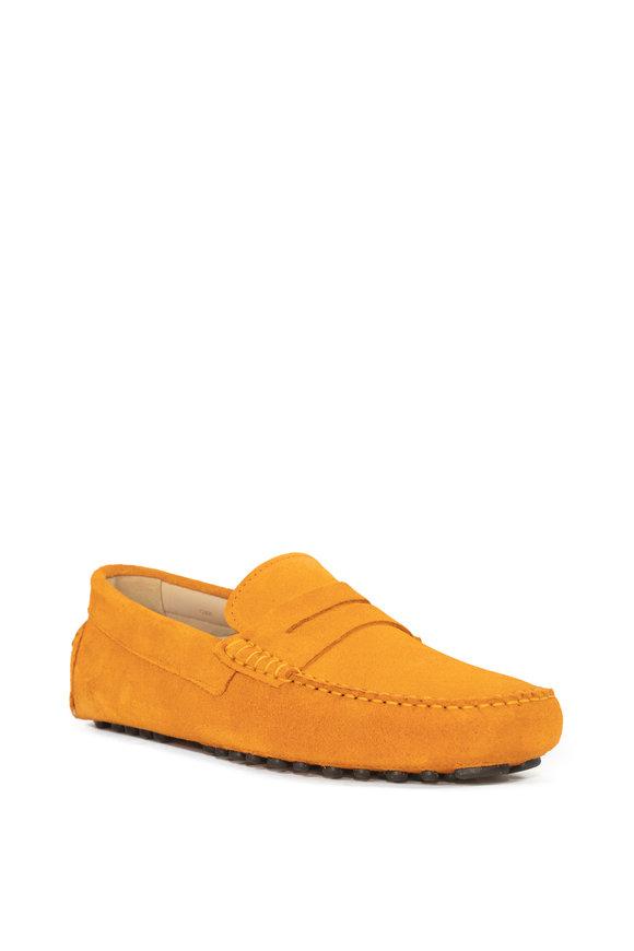G Brown Ibizia Orange Suede Penny Loafer