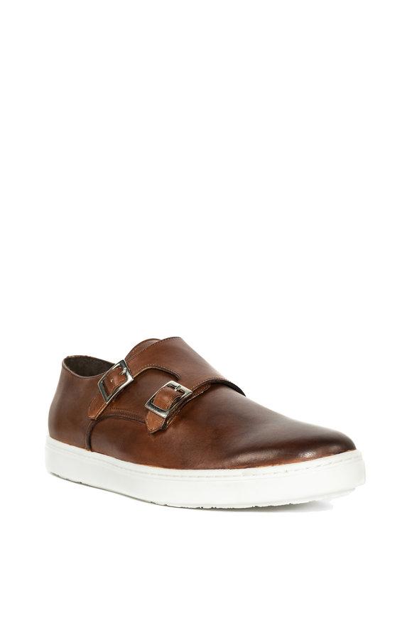 G Brown Jaxon Medium Brown Leather Double Monk Strap Shoe