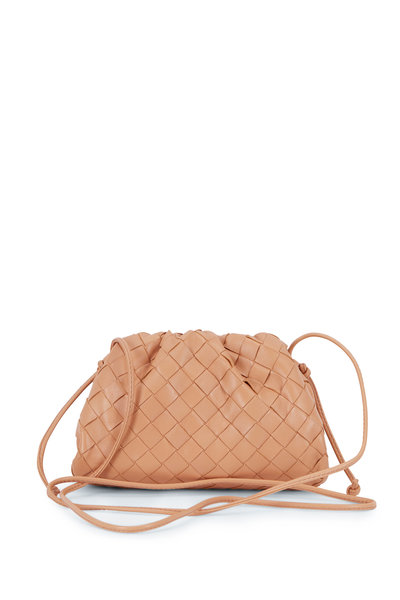 Bottega Veneta - Sandalwood Beige Interciatto Pouch Small Crossbody