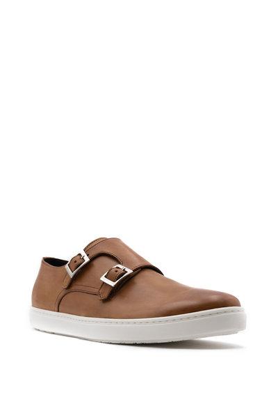 G Brown - Jaxon Cognac Leather Double Monk Strap Shoe