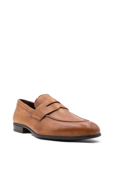 G Brown - Cannon Cognac Leather Penny Loafer