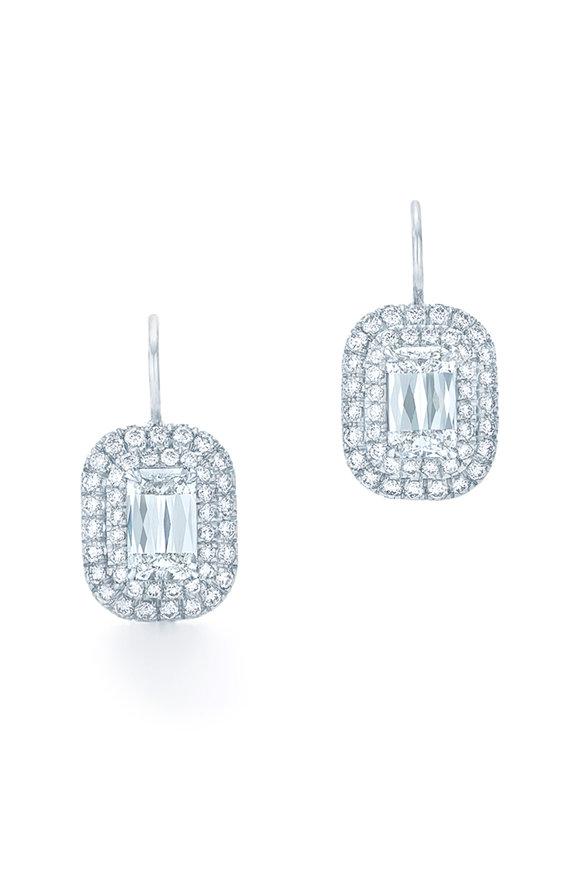 Kwiat 18K White Gold Ashoka Diamond Leverback Earrings