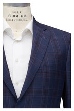 Brioni - Navy Blue & Lavender Plaid Wool Sportcoat