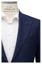 Brunello Cucinelli - Navy Wool, Linen & Silk Houndstooth Sportcoat