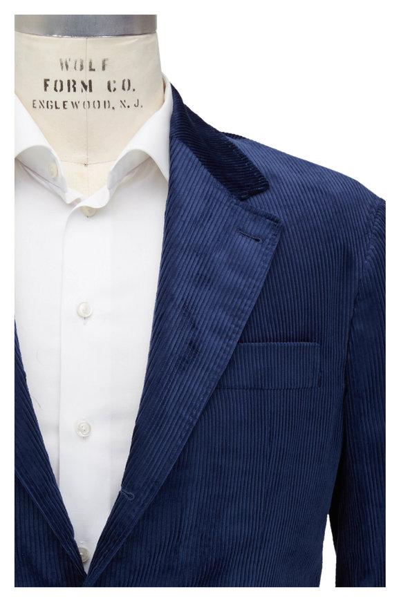 Brunello Cucinelli Blue Sea Island Corduroy Sportcoat
