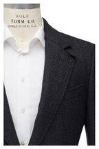 Tom Ford - Charcoal Gray Herringbone Wool Coat