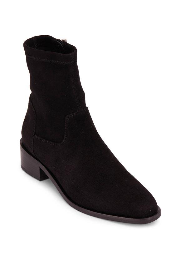 Aquatalia Fallan Black Suede Weatherproof Boot, 40mm
