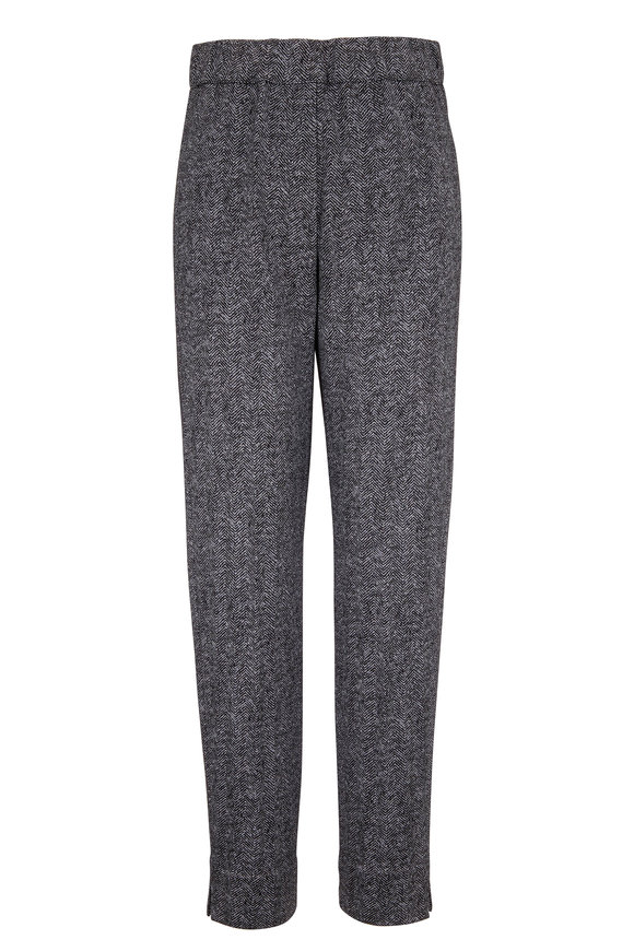 D.Exterior Gray Chevron Pull-On Pant