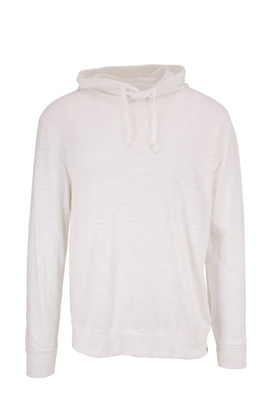 Faherty Brand - Solid White Long Sleeve Hoodie