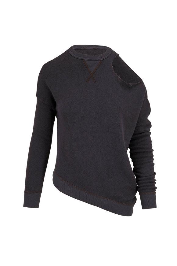 R13 Vintage Black Distorted Sweatshirt