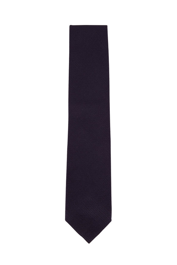 Tom Ford Solid Navy Woven Necktie