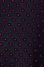Kiton - Slate Blue & Red Mini Medallions Silk Necktie