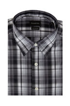 Ermenegildo Zegna - Gray Tonal Plaid Classic Fit Sport Shirt
