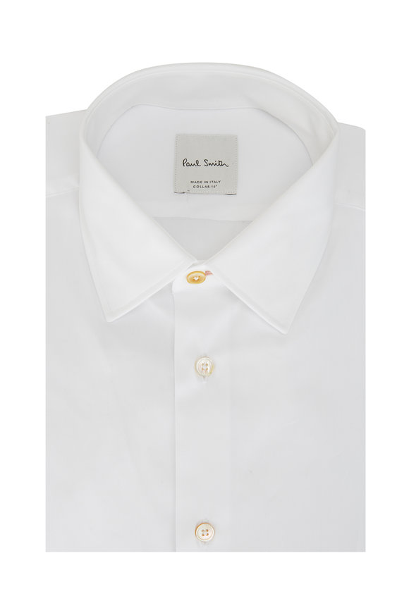 Paul Smith Solid White Tailored Fit Dress Shirt