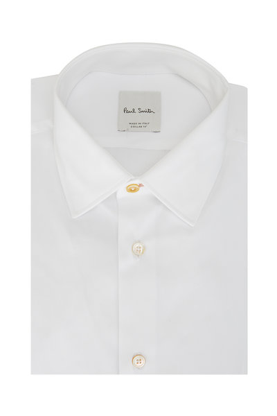 Paul Smith - Solid White Tailored Fit Dress Shirt