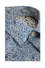 Paul Smith - Blue Floral Tailored Fit Dress Shirt