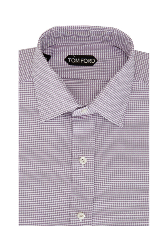 Tom Ford Lilac Oxford Textured Dress Shirt