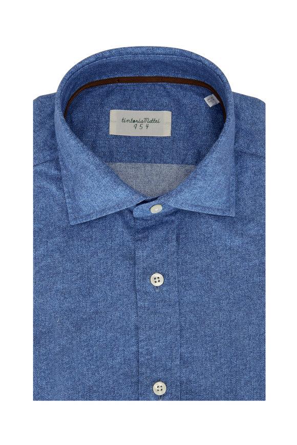 Tintoria Blue Herringnbone Sport Shirt