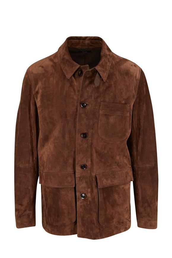 Tom Ford Brown Suede Carpenter Jacket