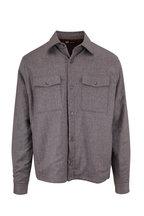 Z Zegna - Gray Padded Wool Regular Fit Shirt Jacket