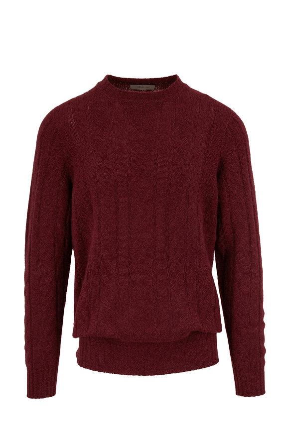 Corneliani Boudreaux Cashmere Cable Knit Pullover