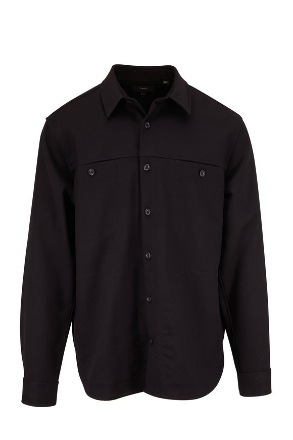 Vince Black Workwear Overshirt
