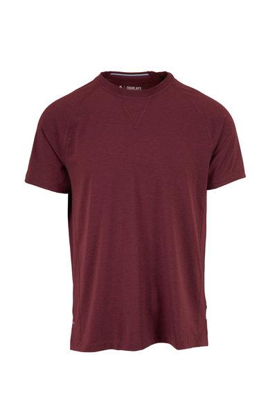 Fourlaps - Level Burgundy Short Sleeve T-Shirt