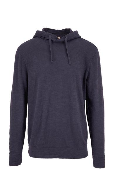Faherty Brand - Navy Slub Cotton Hoodie