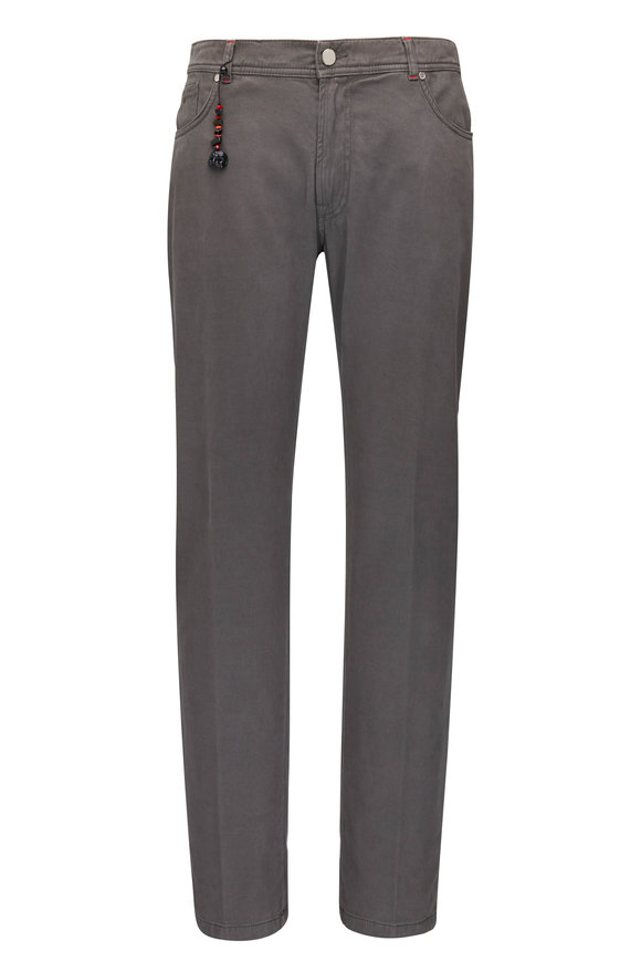 Marco Pescarolo Charcoal Cotton & Cashmere Five Pocket Pant