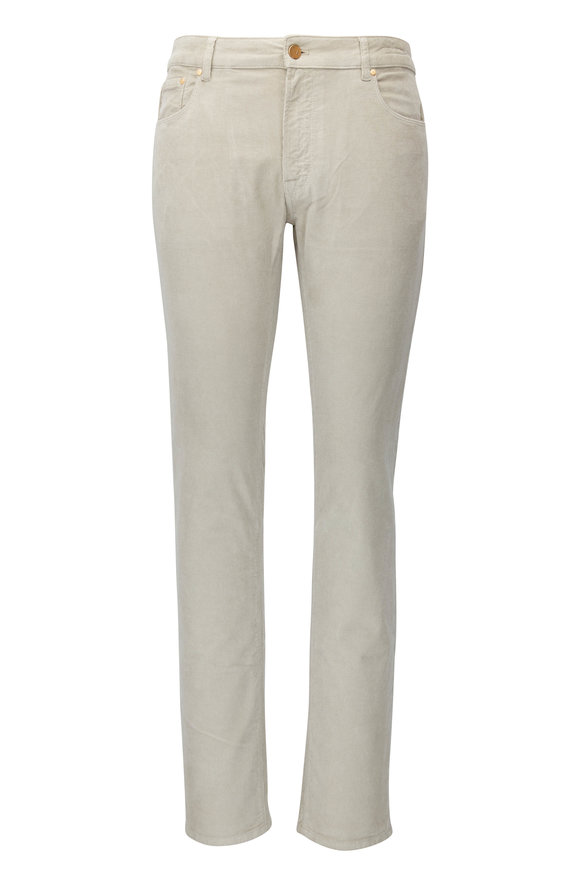 PT Torino Jazz Light Tan Corduroy Five Pocket Pant