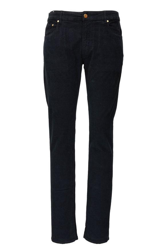PT Torino Jazz Black Corduroy Five Pocket Jean