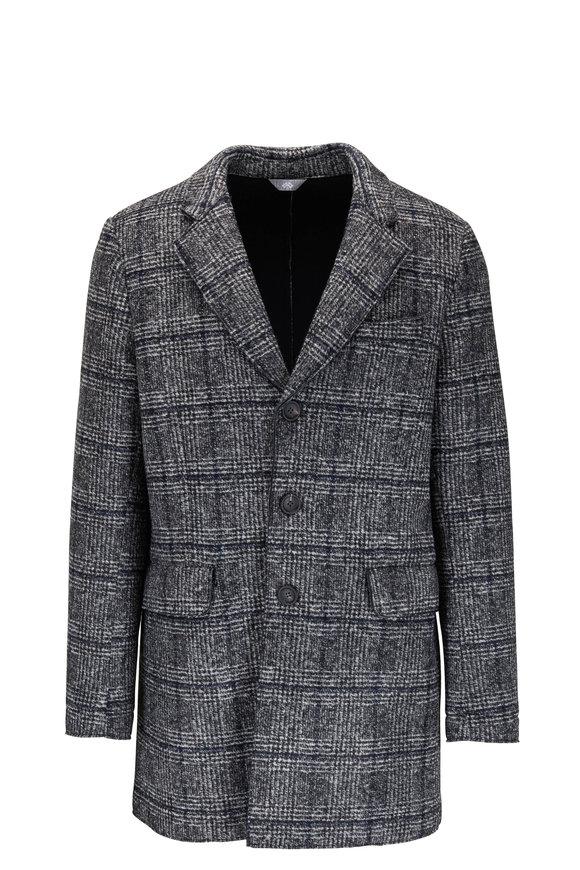 Fradi Gray Windowpane Knit Sportcoat