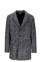 Fradi - Gray Windowpane Knit Sportcoat