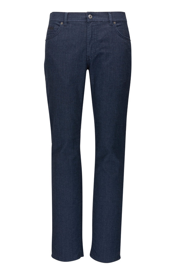 Brax Cooper Fancy Navy Modern Fit Pant