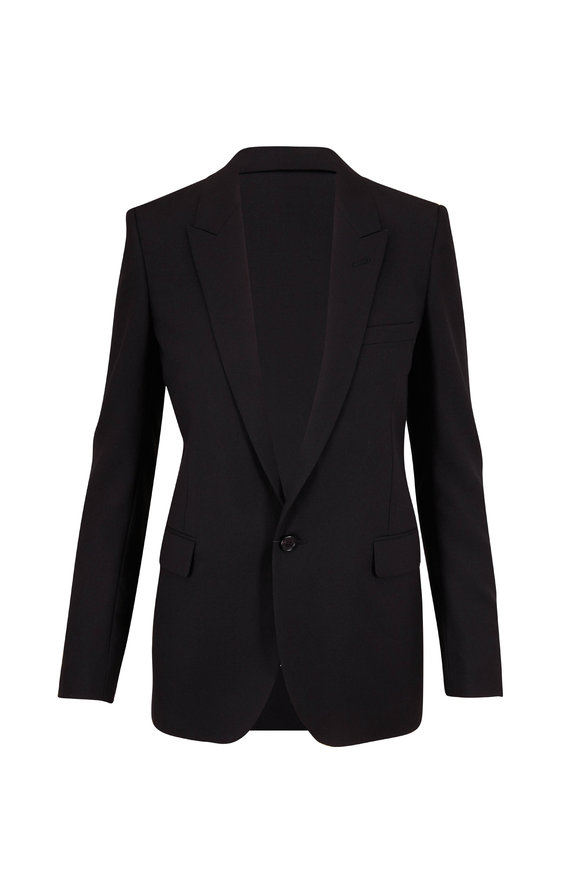 Saint Laurent Classic Black Wool Single Button Jacket