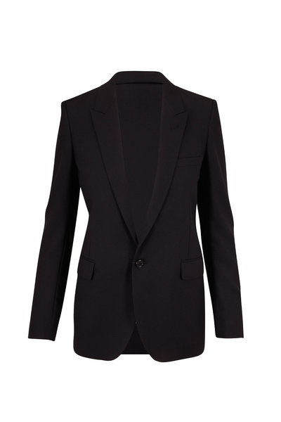 Saint Laurent - Classic Black Wool Single Button Jacket