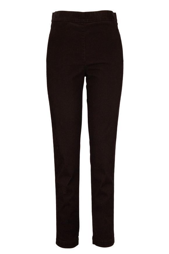 D.Exterior Black & Brown Corduroy Pull-On Legging