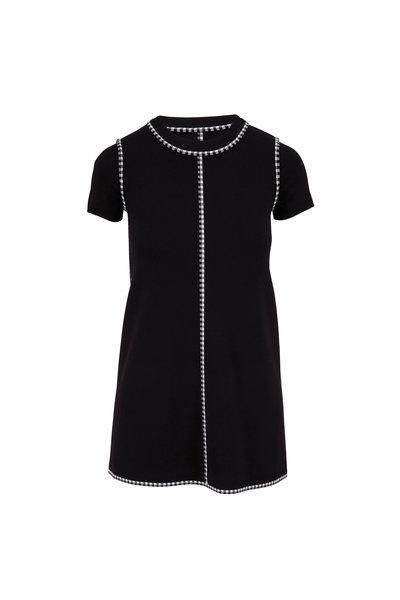Paule Ka - Black & White Short Sleeve Shift Dress
