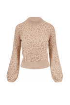 Veronica Beard - Tilda Oat Leopard Print Pullover